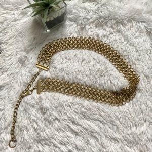 Gold Woven chain belt